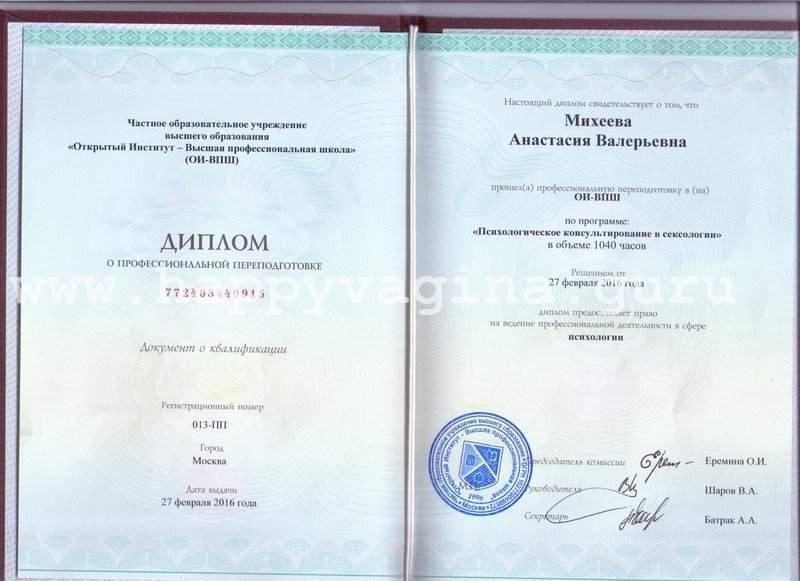 sexology diploma